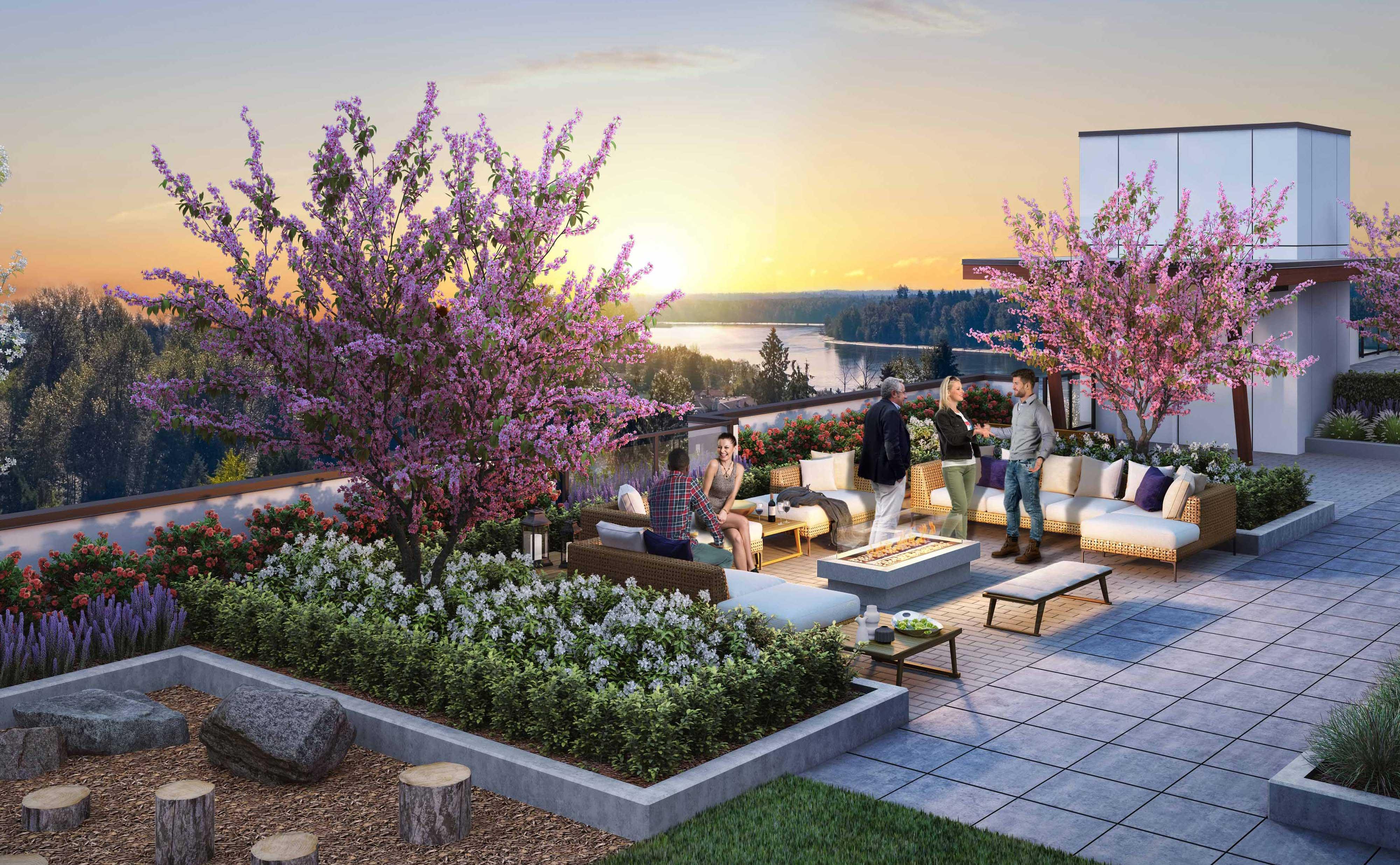 The Sierra Ridge rooftop terrace
